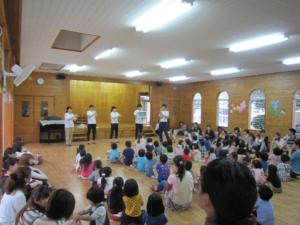 延岡市健康増進課による親子健康講座