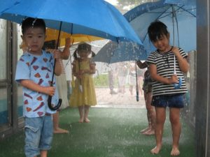 土砂降り体験